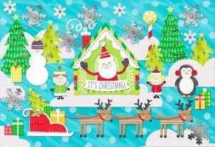 Winter Christmas Scene Christmas Card