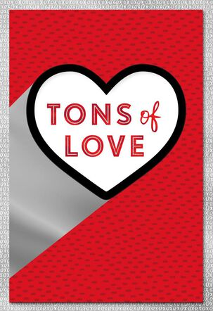 Tons of Love Heart Valentine's Day Card