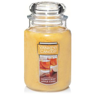 honeycrisp apple cider large jar candle by yankee candle - Hallmark Christmas Home Decor