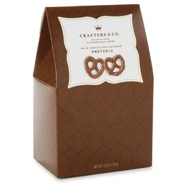 5.5 oz. Milk Chocolate-covered Pretzels in Gift Box, , large