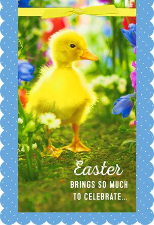 Little Yellow Duckling Easter Card