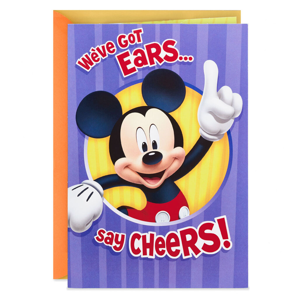 Mickey Mouse And Friends Pop Up Birthday Card