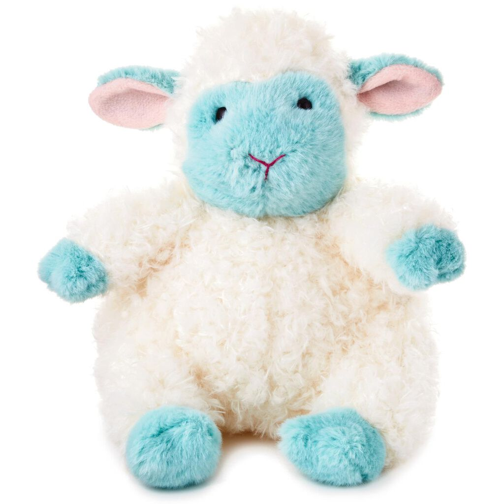 Chubby Blue And White Lamb Stuffed Animal 7 5 Classic Stuffed