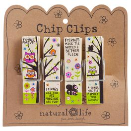 Natural Life Friends Chip Clips—Set of 4, , large