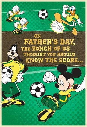 Mickey Mouse Soccer Field Father's Day Card from Grandchildren