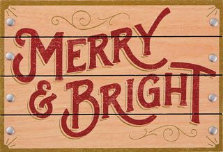 Merry and Bright Christmas Card,