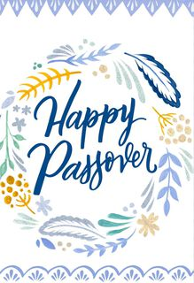 Blessings Flower Wreath Passover Card,