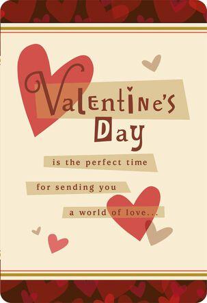 World of Love Grandson Valentine's Day Card