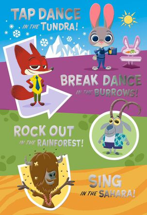 Disney Zootopia Birthday Bash Card with Stickers