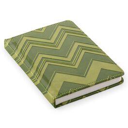 Green Chevron Pattern Address Book, , large