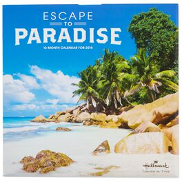 Escape to Paradise 2018 Wall Calendar, 12-Month, , large