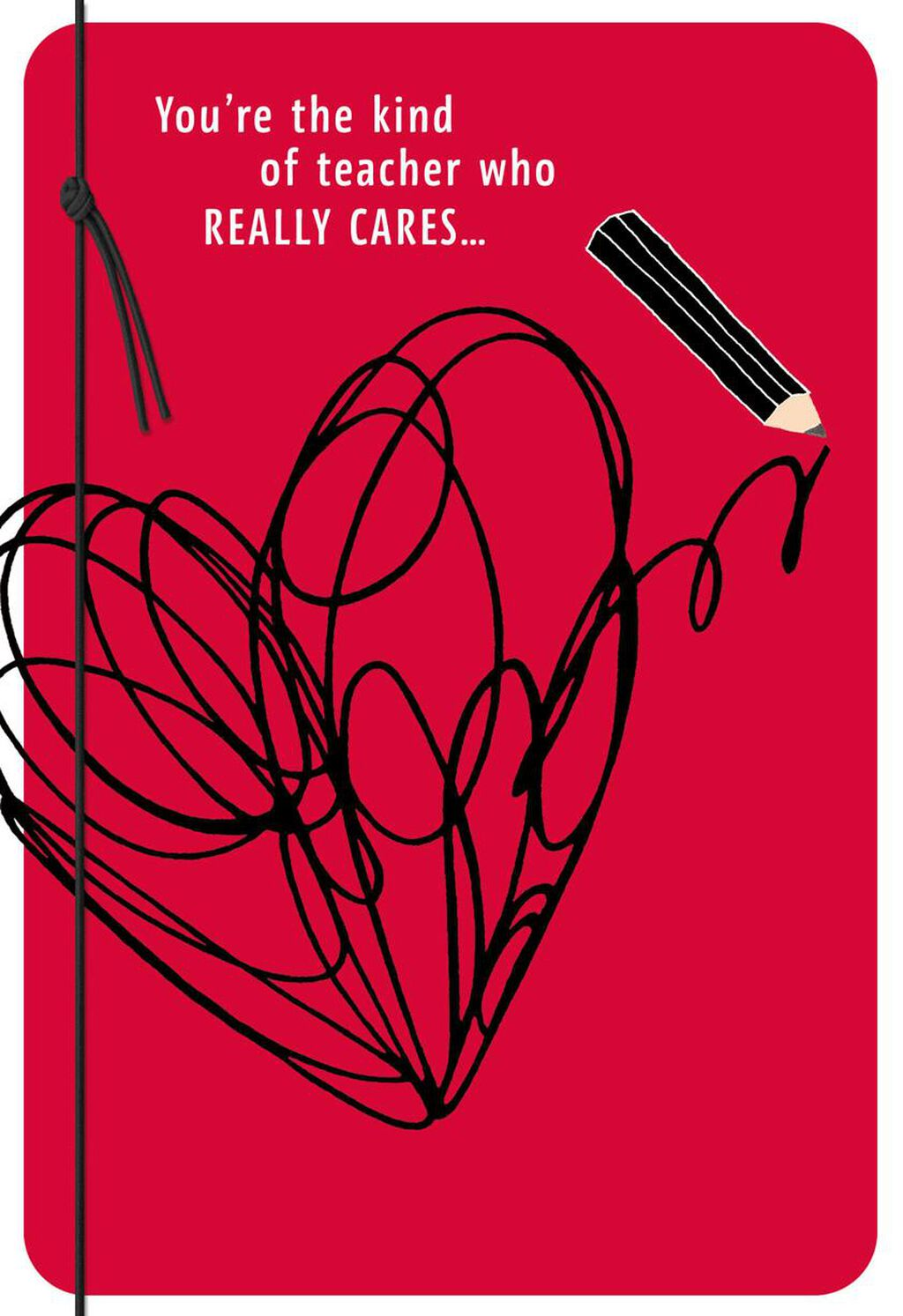 Scribble Heart Valentine S Day Card For Teacher Greeting Cards