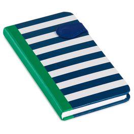 Navy Stripe Slim Journal, , large
