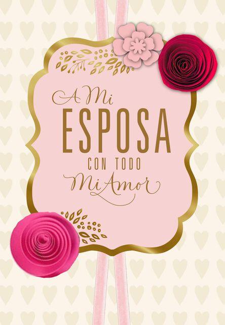 My love my all spanish language valentines day card for wife my love my all spanish language valentines day card for m4hsunfo