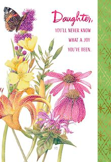 Marjolein Bastin You Are Loved Birthday Card for Daughter,