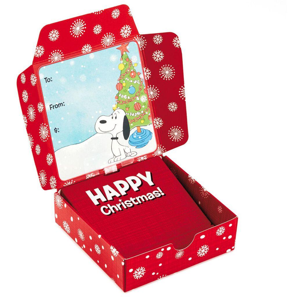 Peanuts® Christmas Musical Gift Card Holder Box, 4\