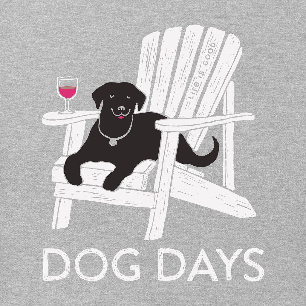 fe30fce0532fb7 Life is Good Women's Dog Days Gray V-Neck T-Shirt - Clothing - Hallmark