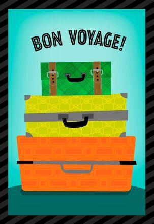 Suitcases Bon Voyage Card
