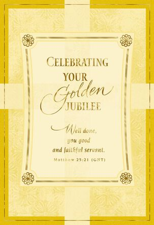 Celebrating 50 Years of Christian Service Card