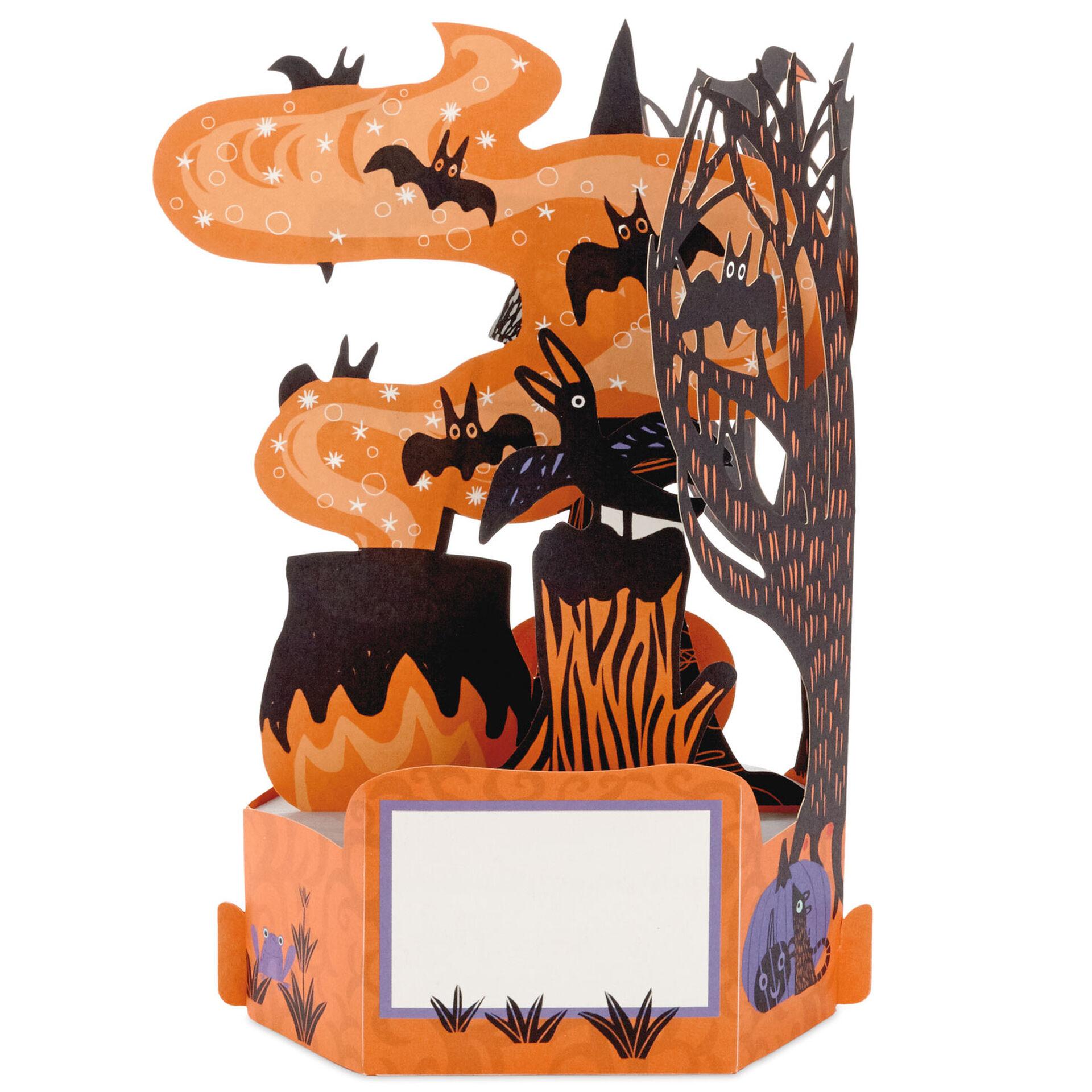 Witchs Cauldron Hallmark Paper Wonder Pop Up Halloween Card