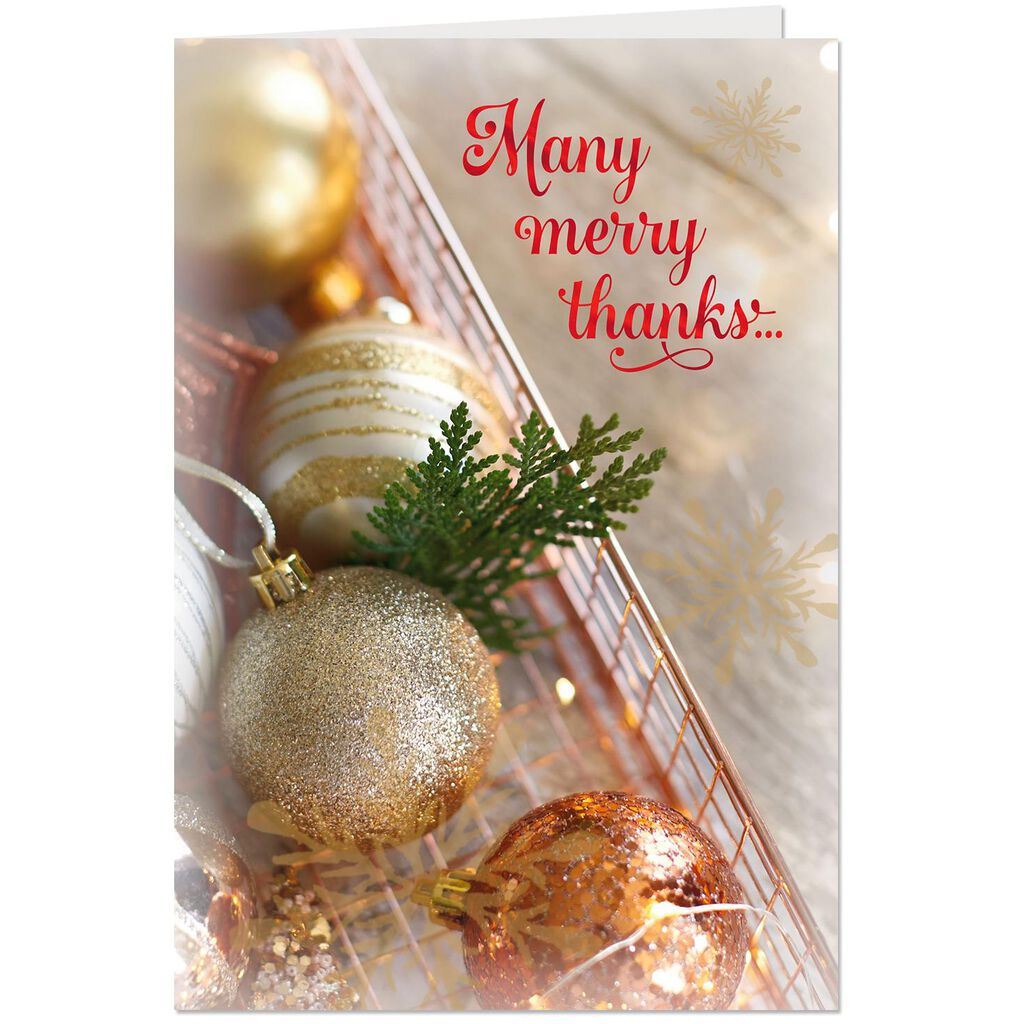 Many Merry Thanks Christmas Card for Service Provider - Greeting ...
