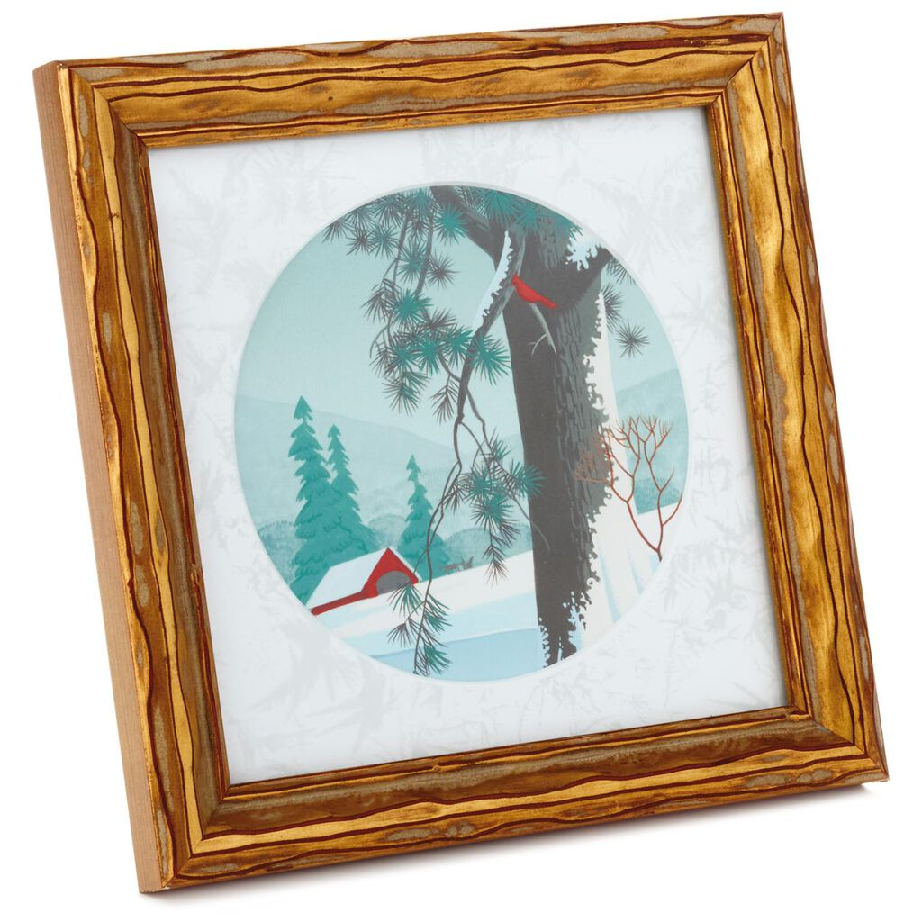 Red Barn Winter Scene Framed Art - Framed Art & Prints - Hallmark