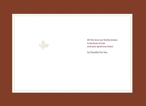 Mom's Generous Heart Thanksgiving Card,