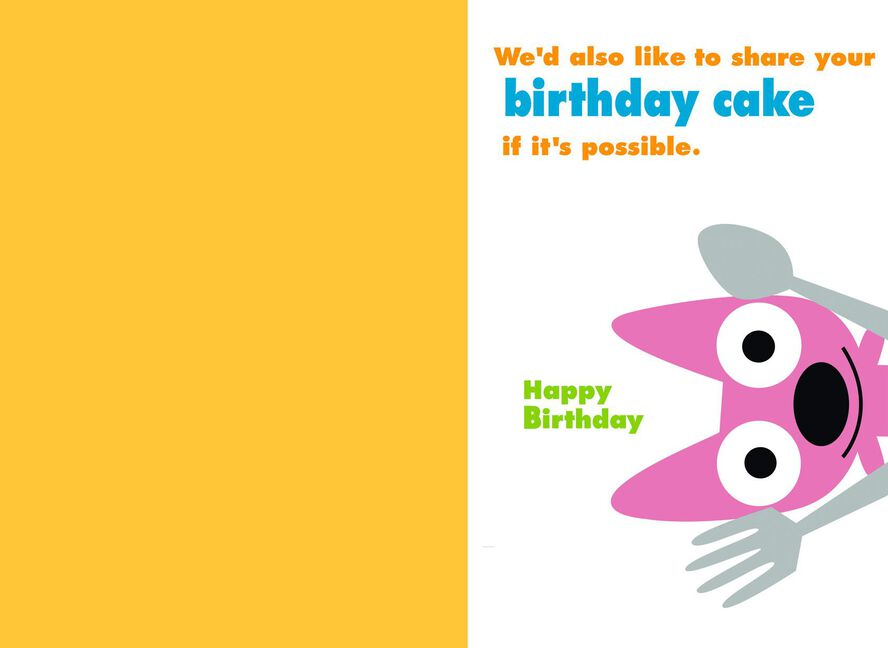 Hoops Yoyo Pass The Cake Birthday Card With Sound Greeting Cards