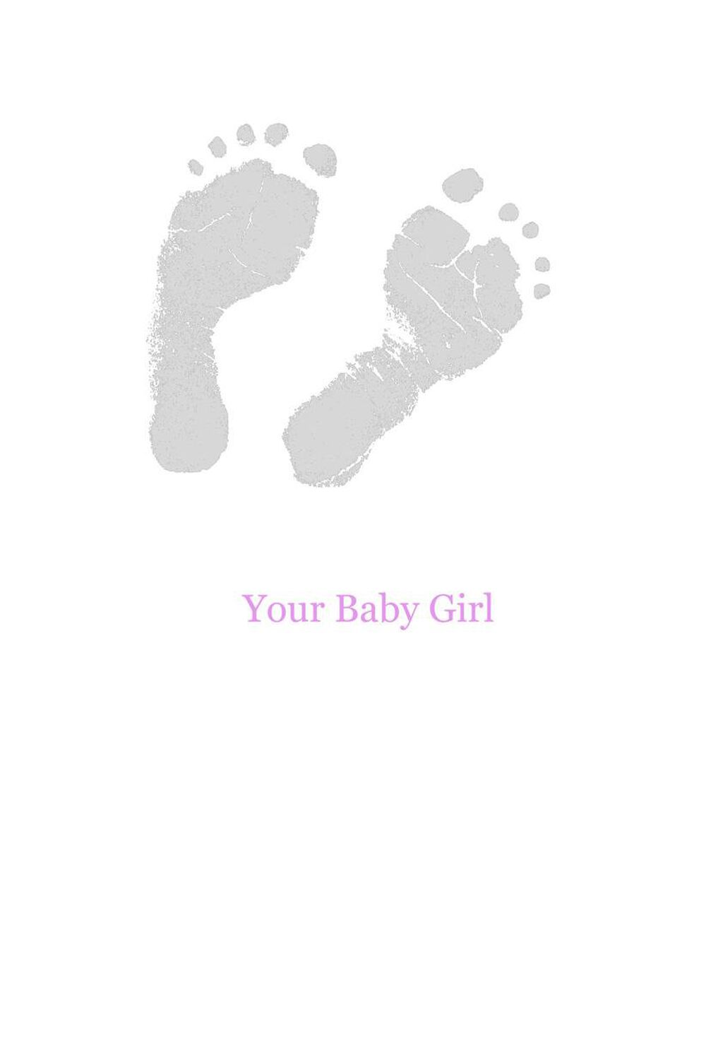 pink footprints new baby girl card greeting cards hallmark
