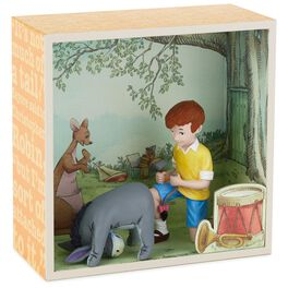 Christopher Robin With Eeyore's Tail Shadow Box With Figurine, , large