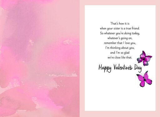 My True Friend Valentine's Day Card for Sister,