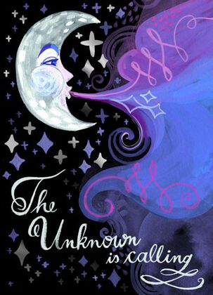 The Unknown Is Calling Encouragement Card
