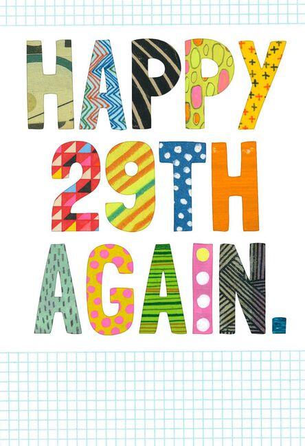 Happy 29th Birthday Again Funny Card