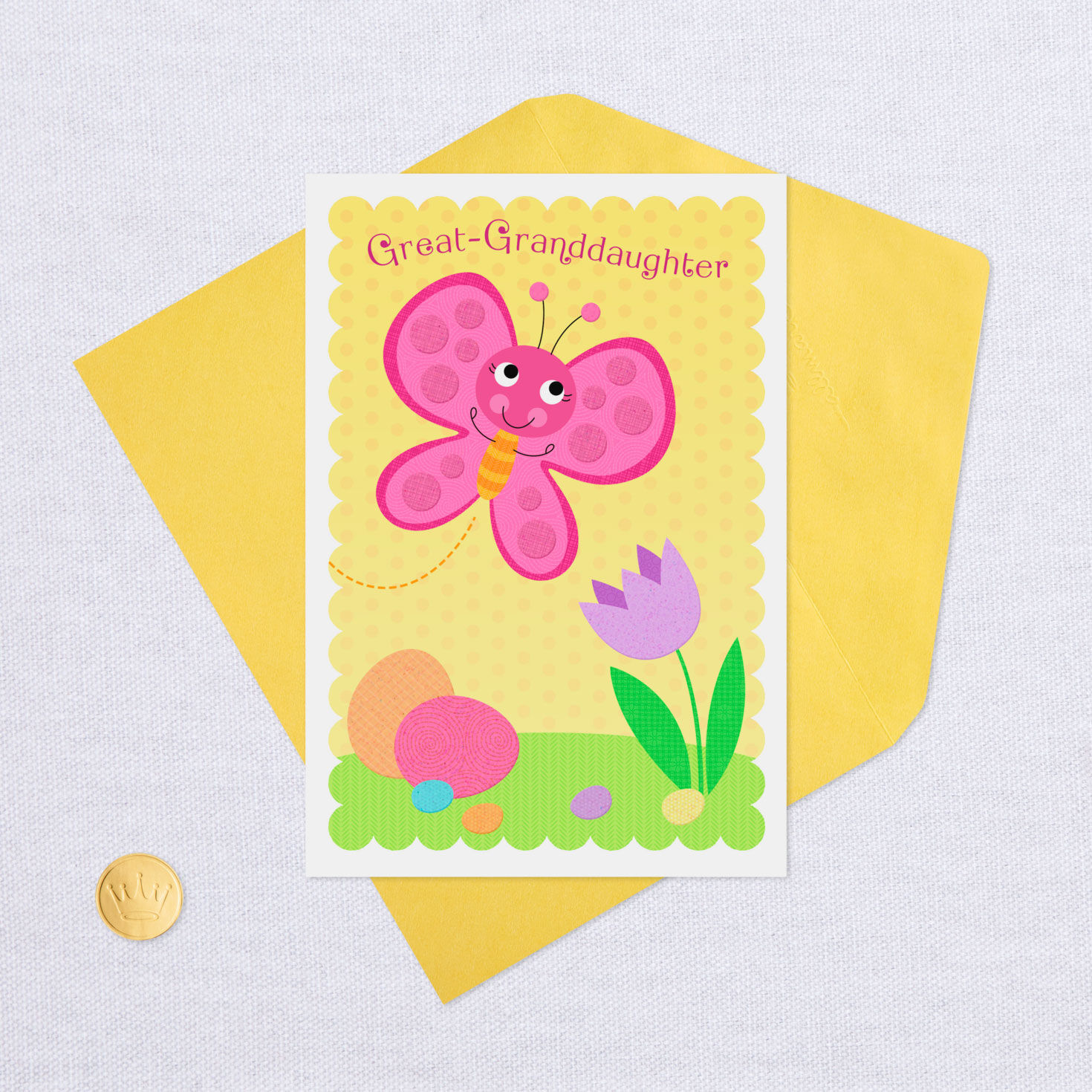 Lovely Easter Cards Granddaughter /& Great Granddaughter with Envelope No 2 NEW