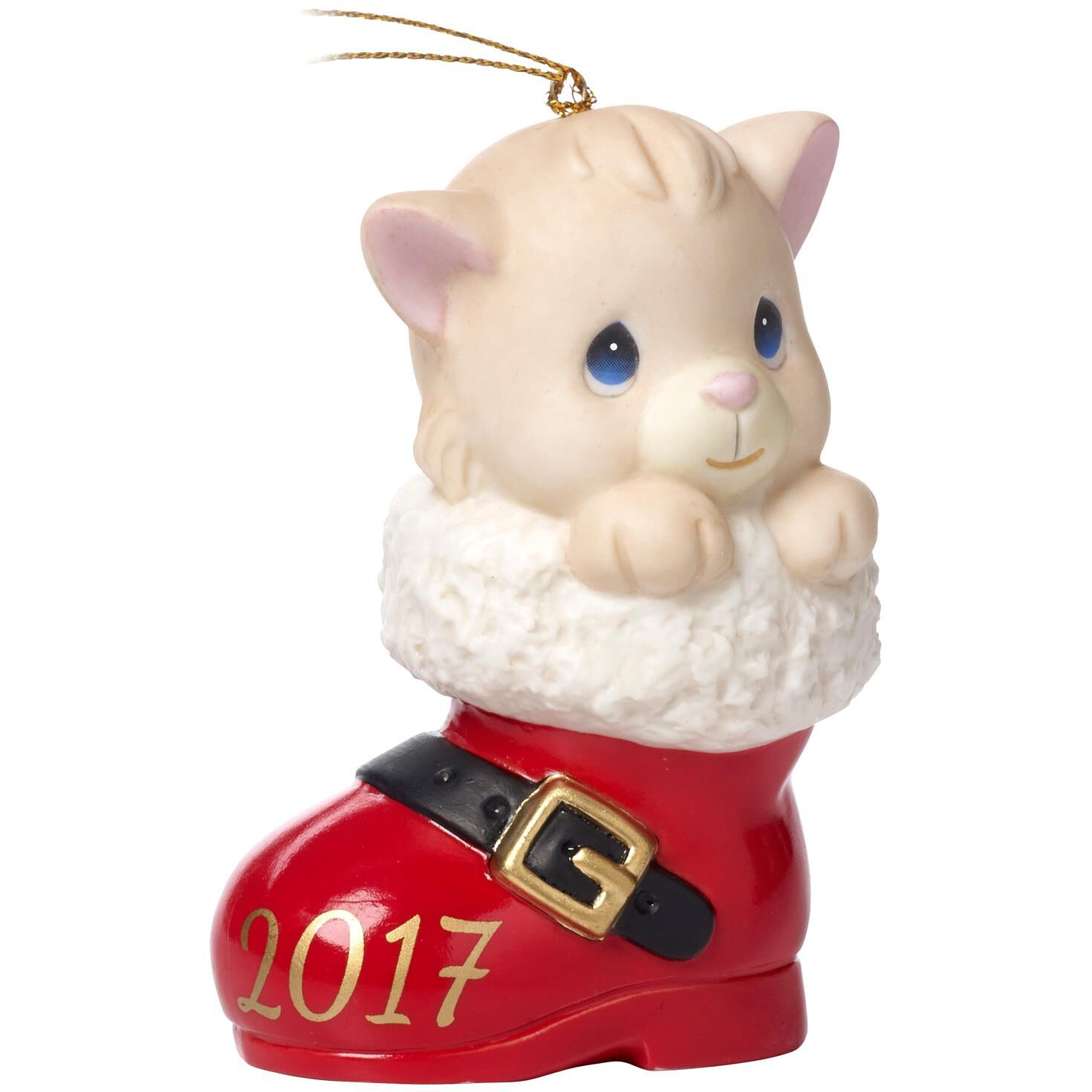 Precious Moments® Christmas Cat In Boot 2017 Ornament - Specialty ...