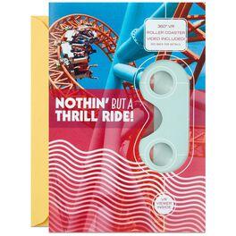 Thrill Ride Roller Coaster VR Birthday Card, , large