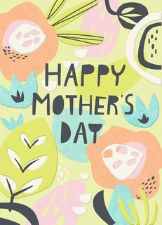Paper Flowers Blank Mother's Day Card,