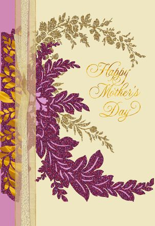 Elegant Purple and Gold Foliage for Wife Mother's Day Card