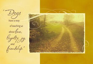 Dirt Road By Field Loss of Pet Sympathy Card