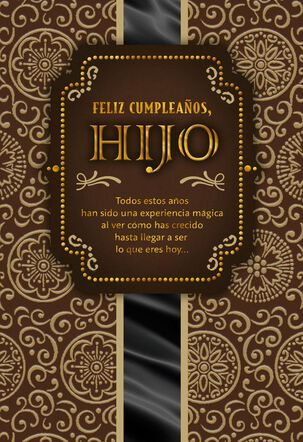 You're Extraordinary Spanish-Language Birthday Card for Son