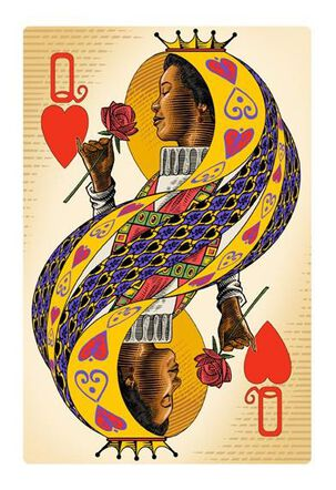 Mom Queen of Hearts Valentine's Day Card