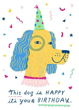 Birthday Dog Just Because Card