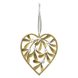 Our First Christmas Heart-Shaped Mistletoe Ornament, , large