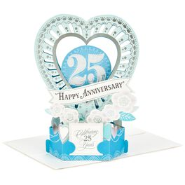 Celebrate the Years Pop Up 25th Anniversary Card, , large