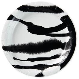 Zebra Stripe Paper Dessert Plates, Set of 8, , large