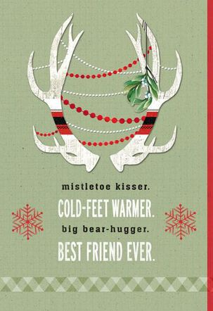 Cold-Feet Warmer Christmas Card