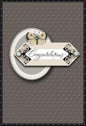 Elegant Congratulations Wedding Card