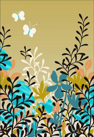 Butterflies in the Garden Friendship Card