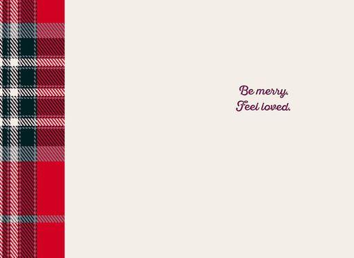 Life is Good® Love Ornament on Plaid Christmas Card,