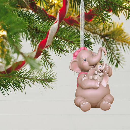 Dalmatian on a Train Christmas Ornament